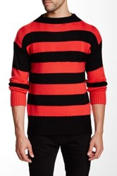 Hunter Striped Wool Sweater Red