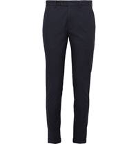 Nn.07 Stretch Cotton Jacquard Suit Trousers Blue