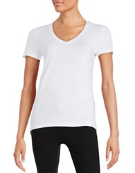 Lord And Taylor Petite V Neck Tee White