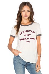 Obey Never Just Rock N Roll Sold Out Ringer Tee Ivory