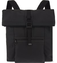 Mulberry Fleet Coated Canvas Backpack Charcoal