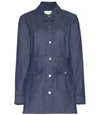 Wood Wood Sachi Cotton And Linen Jacket Blue