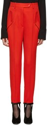 Nina Ricci Red Stirrup Trousers