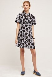 Anthropologie Maple Shirtdress Blue Motif