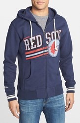 Men's Mitchell And Ness 'Boston Red Sox Race To The Finish' Full Zip Hoodie