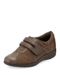 Munro American Jewel Nubuck And Leather Velcro Oxford Mocha