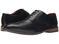 Hush Puppies Style Brogue Black Smooth Leather Men's Lace Up Wing Tip Shoes