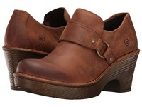 Born Ravenna Russet Full Grain Leather Women's Clog Shoes Brown