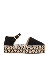 Jimmy Choo Suede Delfine Espadrilles In Black