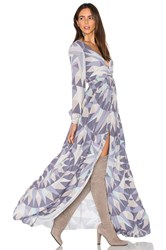Mara Hoffman Compass Long Sleeve Maxi Dress Lavender