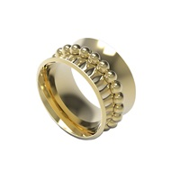 Anfray And Anfray Line Of Bubble Ring Gold