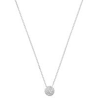 London Road Bloomsbury Ball Diamond 9Ct White Gold Pendant Necklace