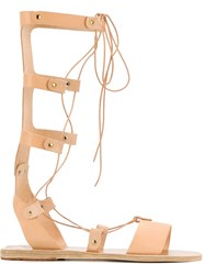 Ancient Greek Sandals 'Thebes' Gladiator Sandals Nude And Neutrals