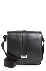 Salvatore Ferragamo 'New Boston' Leather Messenger Bag Black