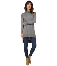 Splendid Cashmere Blend Turtleneck Tunic Heather Cinder Women's Sweater Gray