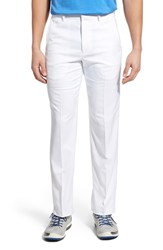 Men's Bobby Jones 'Tech' Flat Front Wrinkle Free Golf Pants White