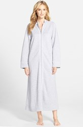 Women's Carole Hochman Designs Zip Front Quilted Robe Grey Heather