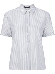 Jenni Kayne Short Sleeved Striped Shirt White
