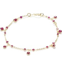 Annoushka 18Ct Yellow Gold And Ruby Nectar Cherry Droplet Bracelet