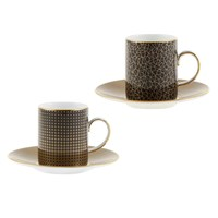 Wedgwood Arris Espresso Cup And Saucer Set Of 2 Sphere Crackle