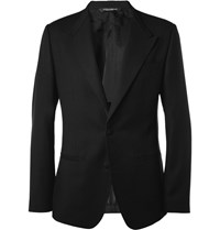 Dolce And Gabbana Slim Fit Collarless Wool Blazer