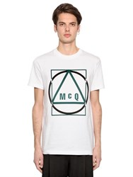 Mcq By Alexander Mcqueen Geo Logo Printed Cotton Jersey T Shirt