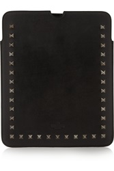 Valentino Studded Leather Ipad Case Black