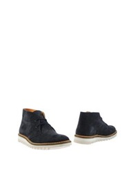 Ribbon Ankle Boots Dark Blue
