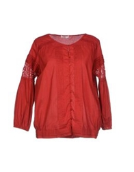 E Go' Sonia De Nisco Shirts Brick Red