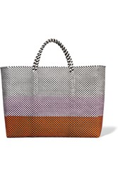 Truss Simple Woven Raffia Effect Tote Pink