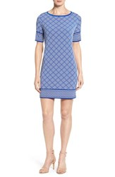 Michael Michael Kors Petite Women's 'Loflin' Print Shift Dress Royal