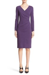Armani Collezioni Women's Ruched Milano Jersey Dress Plum