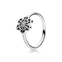 Pandora Design Floral Daisy Lace Ring Silver