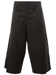 Christopher Nemeth Pleated Detailing Cropped Trousers Black
