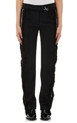 Paco Rabanne Women's Seersucker Trousers Black