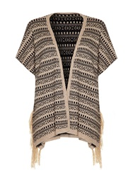 Mela Loves London Mela Bohemian Cardigan Beige