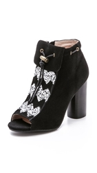 House Of Harlow 1960 Max Suede Booties Black