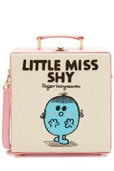 Olympia Le Tan Little Miss Shy Embroidered Cotton Shoulder Bag Multicolor