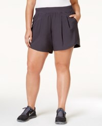 Calvin Klein Performance Plus Size Training Shorts Charcoal