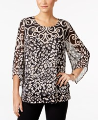 Jm Collection Cheetah Print Chiffon Top Only At Macy's Scroll Cheetah