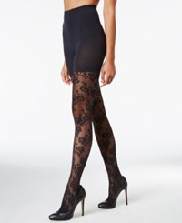 Star Power By Spanx Flower Trip Tights Very Black