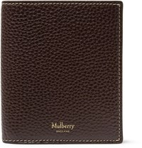 Mulberry Full Grain Leather Trifold Wallet Dark Brown