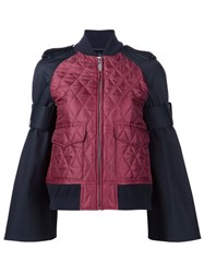 Sacai Quilted Bomber Jacket Red