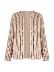 Mela Loves London Sequin Embellished Jacket Cream