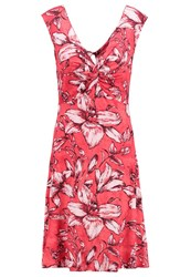 Desigual Jersey Dress Poppy Coral Red