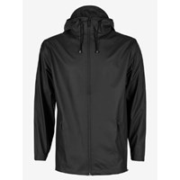 Rains Women's Black Zip Hooded Mac