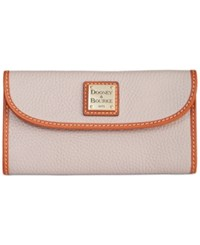 Dooney And Bourke Pebble Continental Clutch Oyster