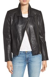 Bb Dakota Women's 'Heely' Leather Moto Jacket Black