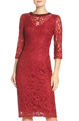 London Times Women's Embellished Lace Sheath Dress