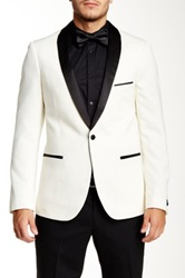 Paisley And Grey Slim Fit Tux Jacket White